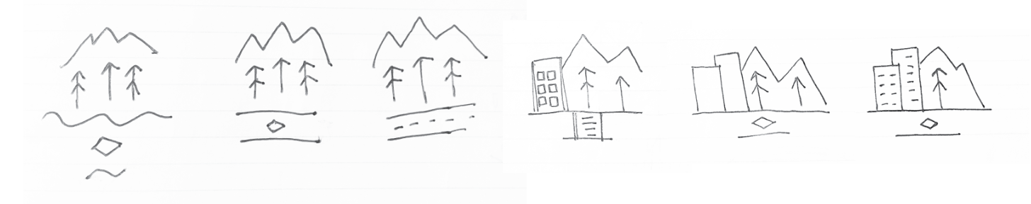 Additional sketches for Choose Your Way Bellevue